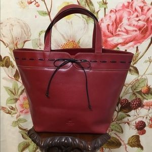 Kate Spade Red Bow Tie Tote